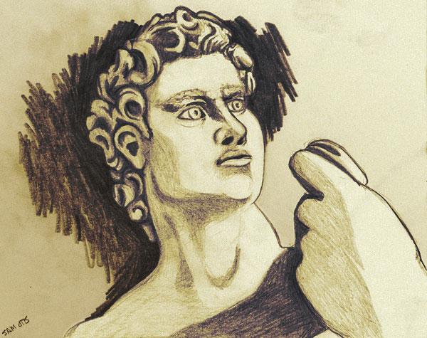 Statue of David sketch