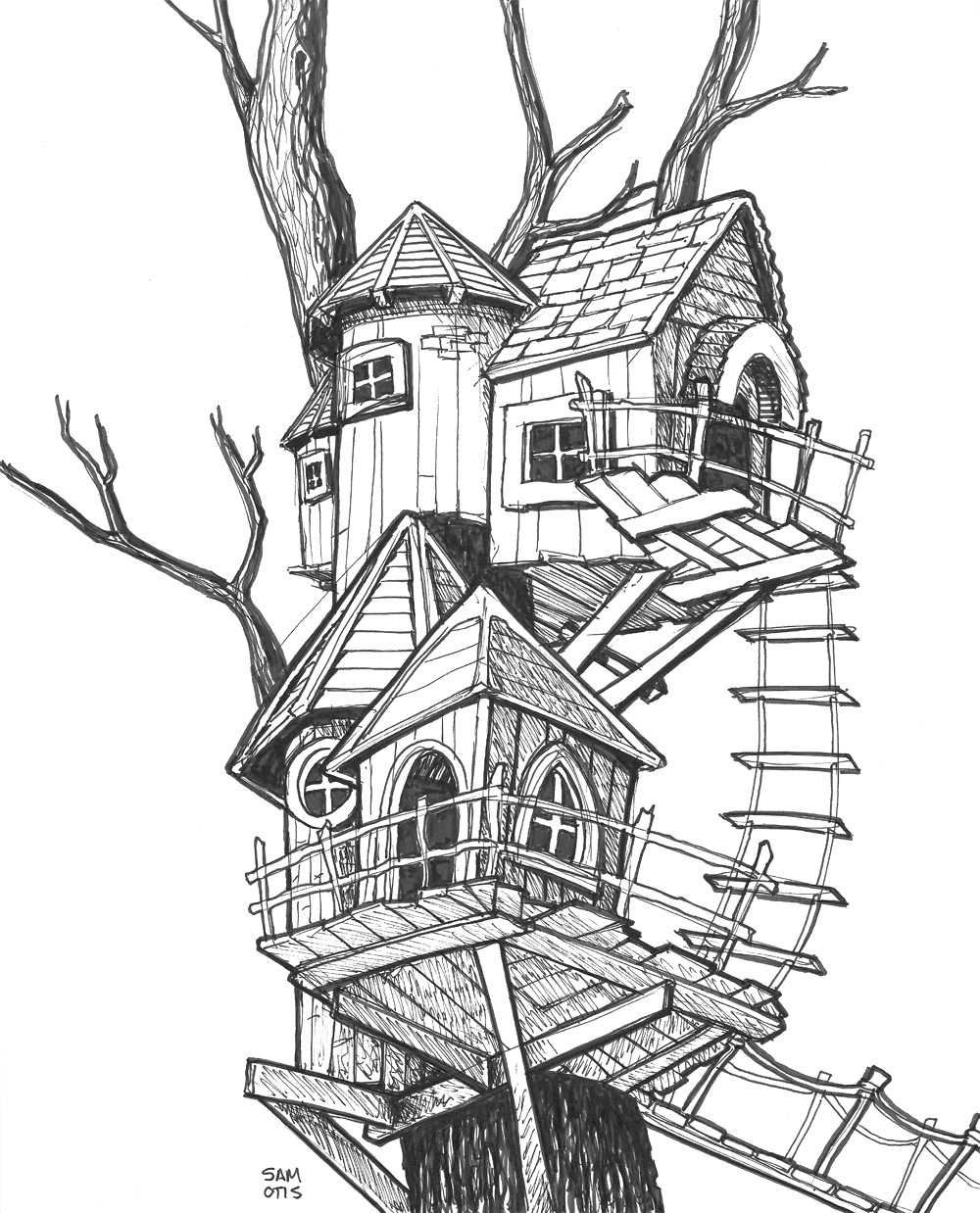 treehouse-sketch